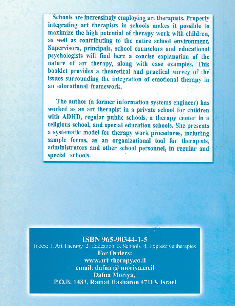 art therapy in schools back cover